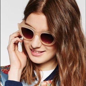db5fbf9c0838 Zara peach cat eye style sunglasses